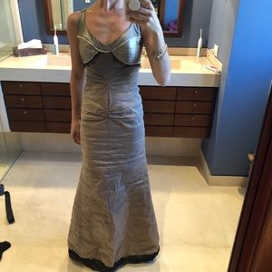 Nicole Miller Taupe gown. Size 0